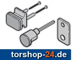 Hörmann Außengriffgarnitur Neusilber F2