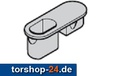 Hörmann Bodenhülse mit Abdeckung Nebentür zweiflügelig