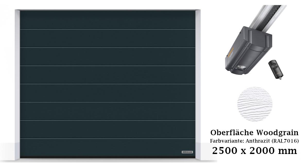 Hörmann Sektionaltor M-Sicke 2500 x 2000 mm anthrazit mit ProMatic
