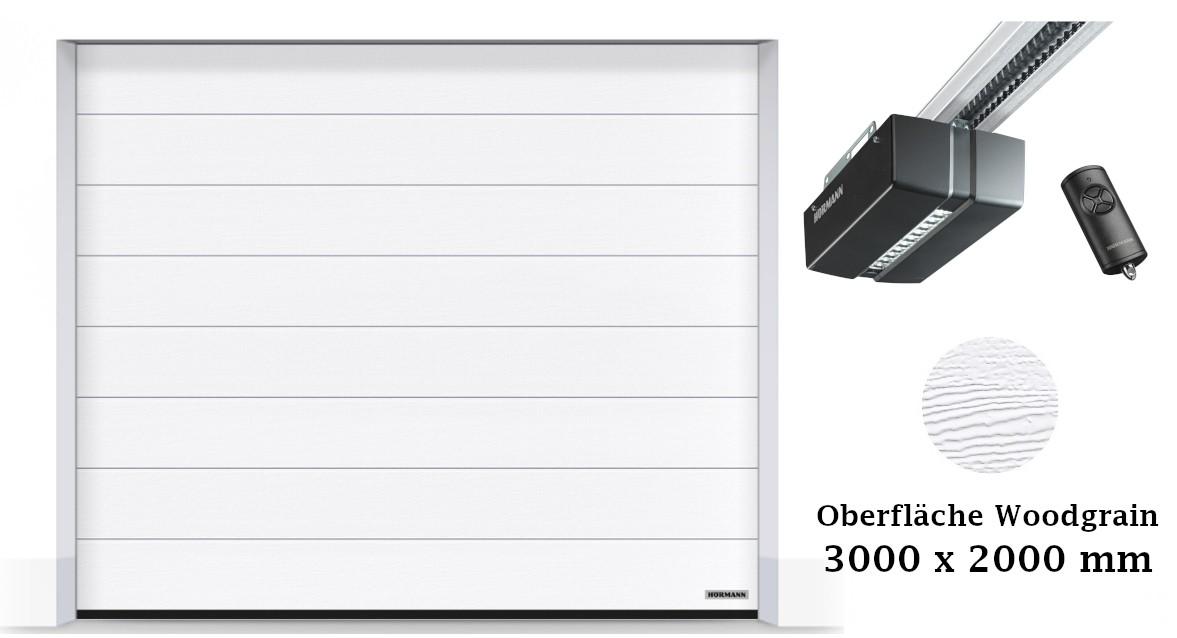 Hörmann Sektionaltor M-Sicke 3000 x 2000 mm weiß mit Promatic