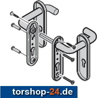 Hörmann Drückergarnitur Nebentür / Schlupftür