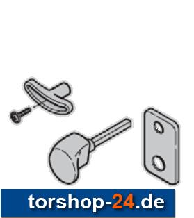 Hörmann Torgriffgarnitur TS 42,5 mm Neusilberfarbton F2