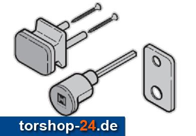 Hörmann Außengriffgarnitur TS 42,5 mm PZ Kunststoff schwarz