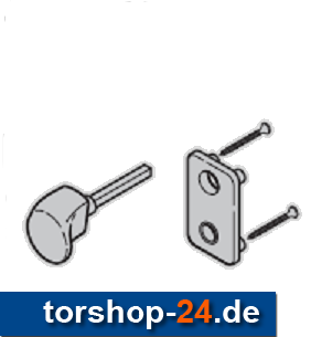 Hörmann Torgriffgarnitur TS 42 mm Edelstahl gebürstet KABA