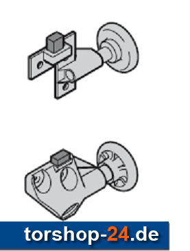 Hörmann Rollenhalter komplett mit Laufrolle und Puffer, rechts