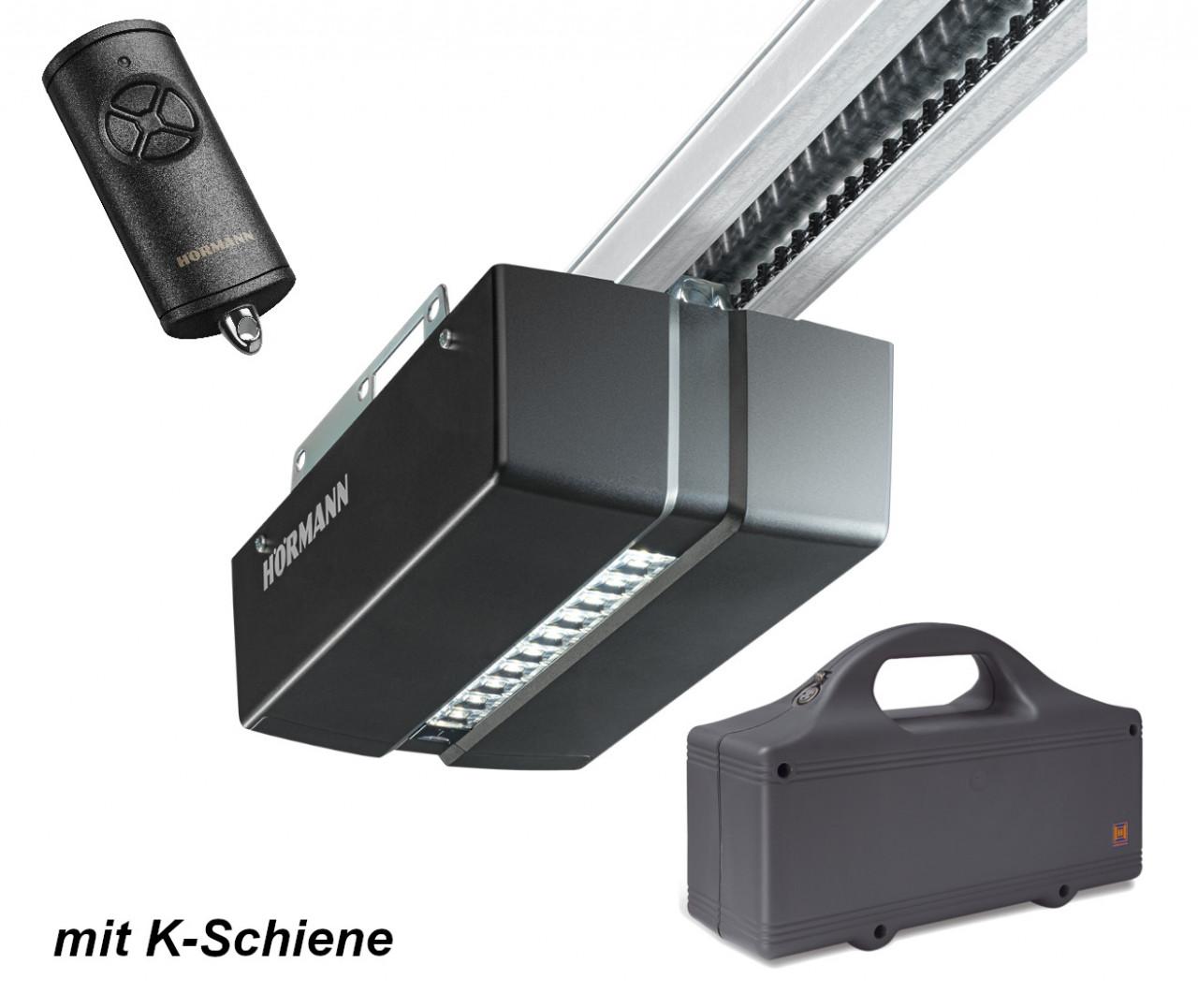 Hörmann ProMatic Akku Serie 4 Garagentorantrieb mit K-Schiene