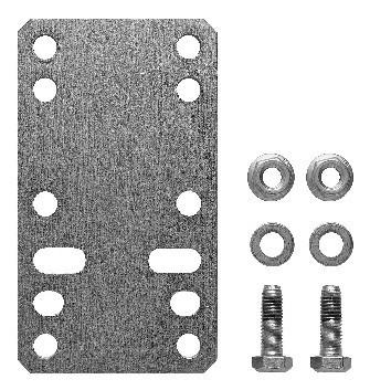 Hörmann Verlängerungsplatte VP 1 in Stahl verzinkt für Drehtorantriebe