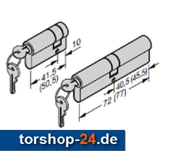 Hörmann Profilzylinder-Satz Schlüpftür-Tor gleichschließend