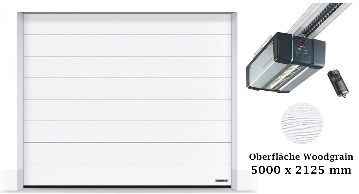 Hörmann Sektionaltor M-Sicke 5000 x 2125 mm weiß mit SupraMatic E