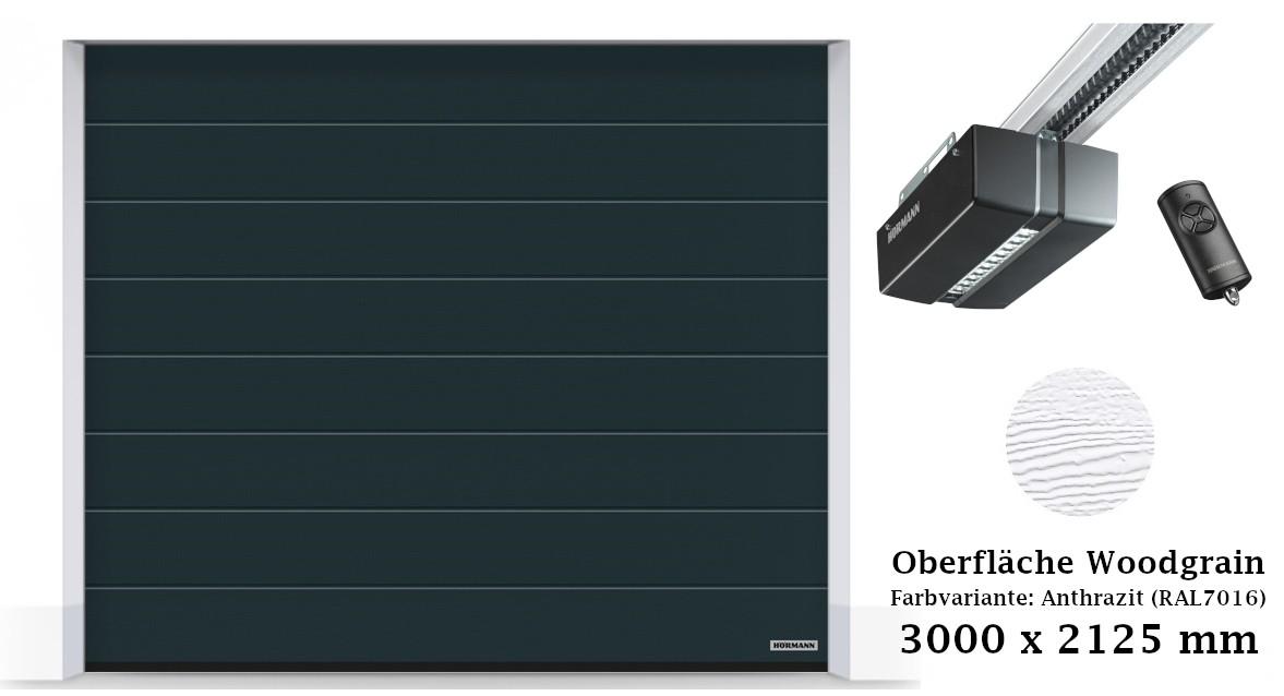 Hörmann Sektionaltor M-Sicke 3000 x 2125 mm anthrazit mit ProMatic